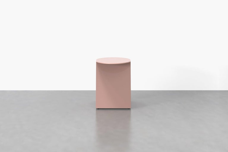 Modern Tack Stool in Rose For Sale