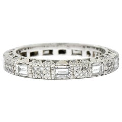 Tacori 1.45 Carat Diamond Platinum Pave Heart Eternity Stacking Band