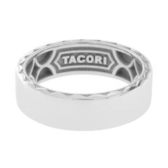 Tacori 18 Karat Gold Sculpted Crescent Men's Wedding Band Ring