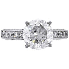 Tacori 3.66 Carat Round Brilliant Diamond Engagement Ring