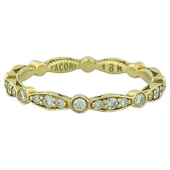 Tacori .50 Carat '1/2 Carat' Diamond Eternity Band, 18 Karat Yellow Gold