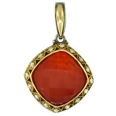 Tacori 58613 Diamond & Red Onyx & Quartz Enhancer, Sterling Silver & 18Kt Gold
