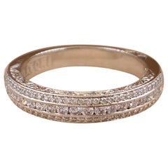 Tacori Classic Crescent Half Circle Pave Diamond Eternity Band in Platinum