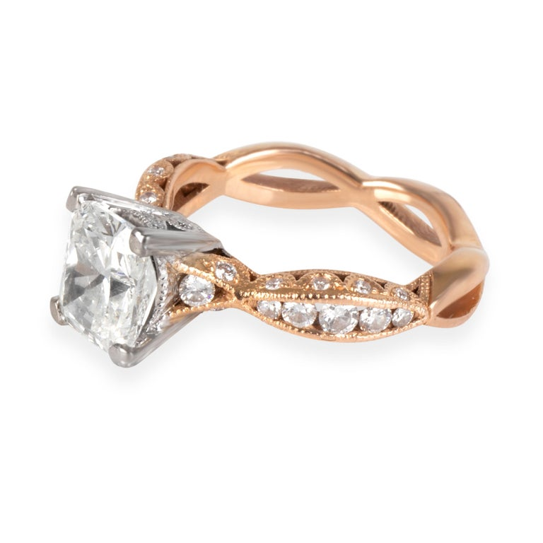 Tacori Diamond Engagement Ring in 18K Rose Gold GIA Certified G SI2 2.37 ctw  PRIMARY DETAILS SKU: 104984  Condition Description: Retails for 12,000 USD. In excellent condition and recently polished. Ring size is 4.25. Comes with the original box
