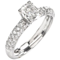 Tacori GIA Cushion Pave Diamond Platinum Engagement Ring