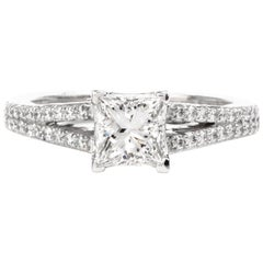 Tacori GIA Diamond Platinum Split Shank Engagement Ring