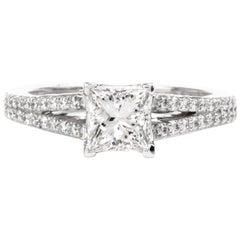 Tacori GIA Diamond Platinum Split Shank Engagement Ring