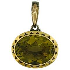 Tacori Olive Quartz Enhancer in Sterling Silver and 18 Karat Yellow Gold