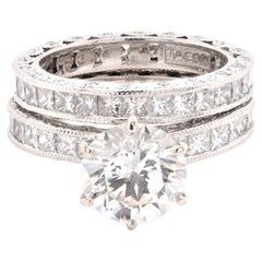 Tacori Platinum Diamond Wedding Set