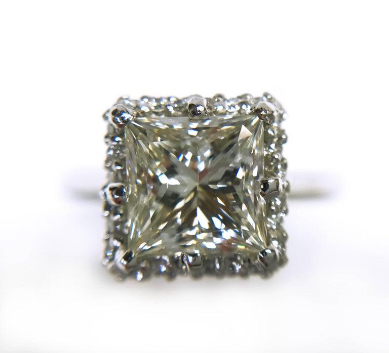 Tacori princess cut halo engagement rings