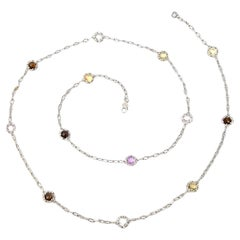 Tacori Sterling Silver 18K Yellow Gold Candy Drop Necklace