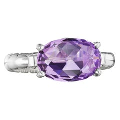 Tacori Sterling Silver Gemma Bloom Ring with East-West Set Amethyst