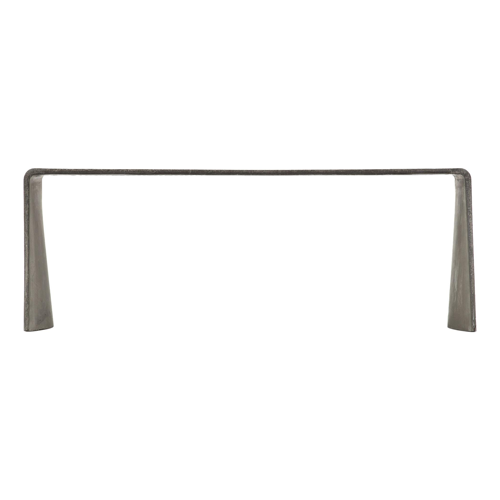 Tadao 120 Concrete Contemporary Low Console Table, 100% Handcrafted in Italy