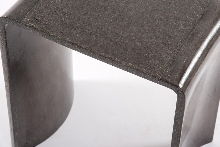 Italian Tadao 40 Concrete Contemporary Stool & Side Table, 100% Handcrafted in Italy For Sale