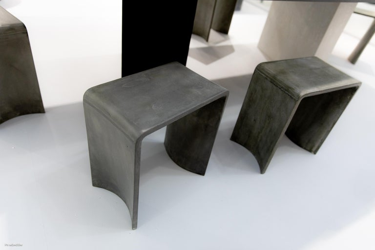 Tadao 40 Concrete Contemporary Stool & Side Table, 100% Handcrafted in Italy In New Condition For Sale In Rome, Lazio