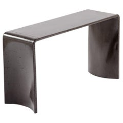 Tadao 80 Concrete Contemporary Side Table, 100% Handcrafted in Italy