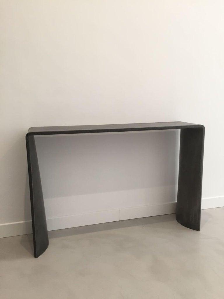 Tadao Alto Concrete Contemporary Console, 100% Handcrafted in Italy 4