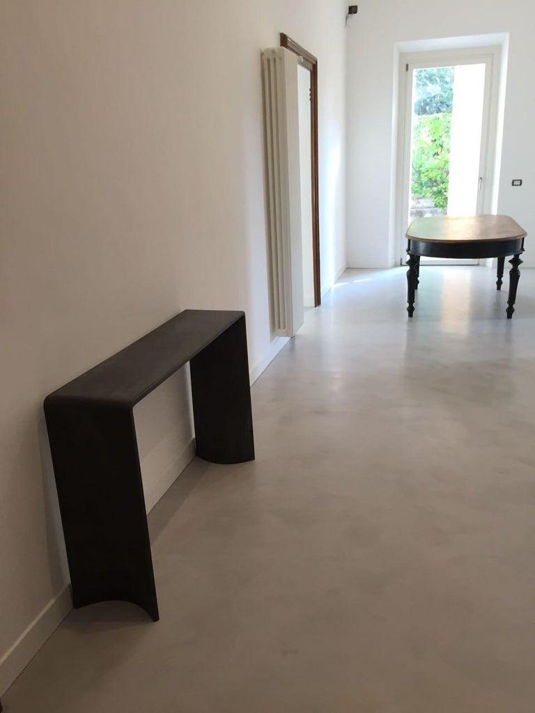 Tadao Alto Concrete Contemporary Console, 100% Handcrafted in Italy 5