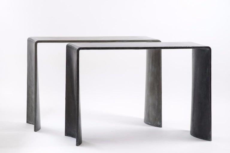 Tadao Alto Concrete Contemporary Console, 100% Handcrafted in Italy 9