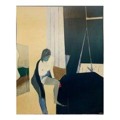 Tadashi Asoma Painting, Untitled Interior with Nude