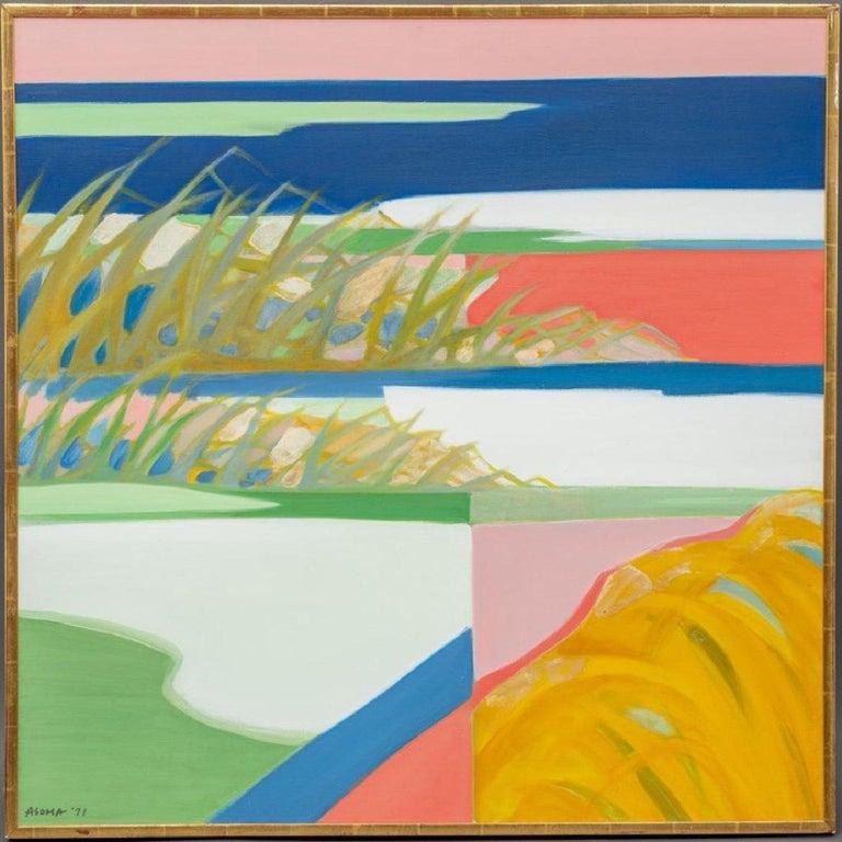 Tadashi Asoma Abstract Painting - At water's edge