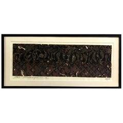 Tadashi Nakayama Limited Edition Japanese Woodblock Print Herd of Horses, 1963