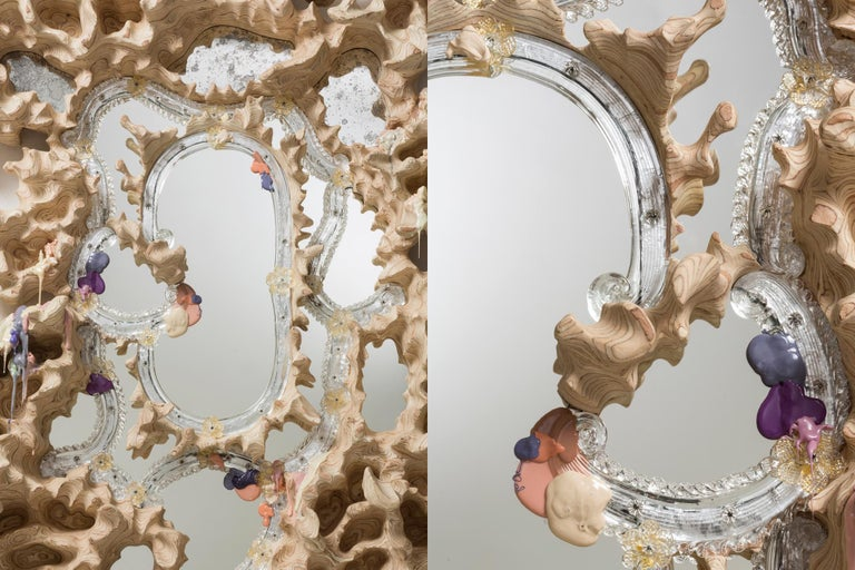 Tadeas Podracky Contemporary Wall Mirror From the Series The Metamorphosis 2021 In New Condition For Sale In Barcelona, ES