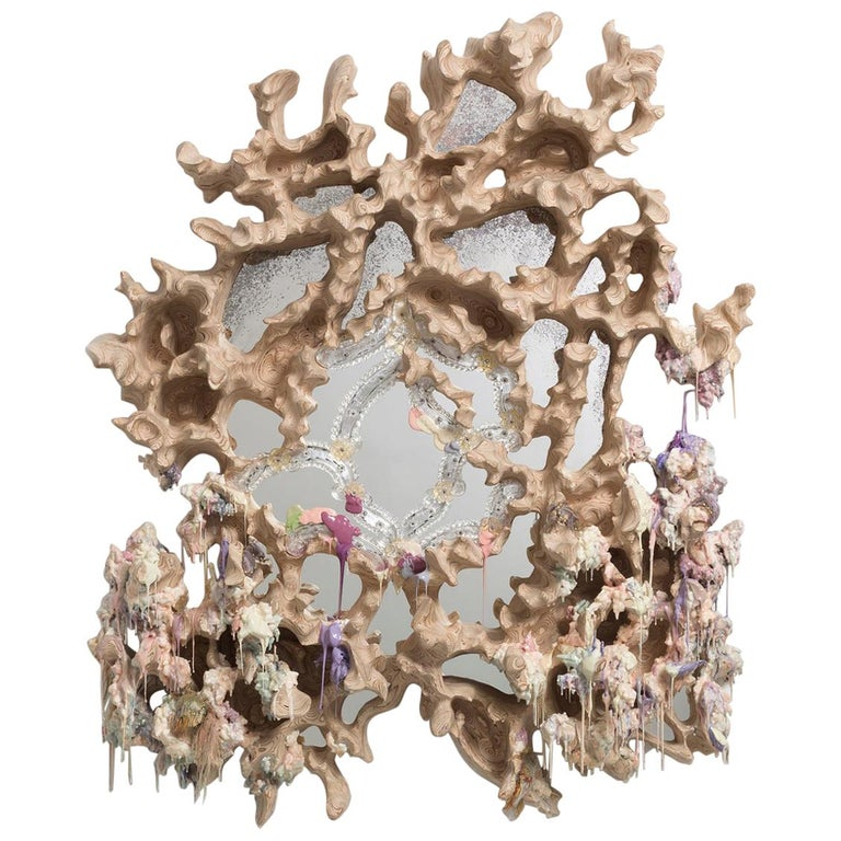 Tadeas Podracky Contemporary Wall Mirror From the Series The Metamorphosis 2021 For Sale