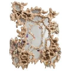 Tadeas Podracky Wood Resin Contemporary Wall Mirror Fading Reflections, 2021