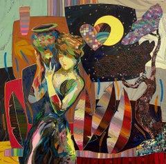 Tadeo Zavaleta ** Back From The Well ** Original Acrylic On Canvas