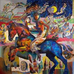 Tadeo Zavaleta ** Midnight Ride ** Original Acrylic On Canvas