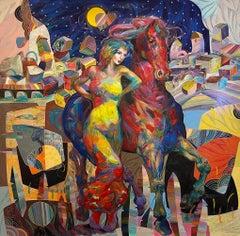 Tadeo Zavaleta ** Semiental Gitano ** Original Acrylic On Canvas