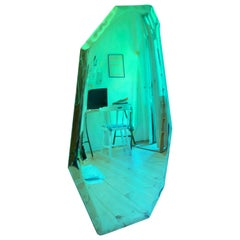 Tafla C1 Mirror Polished Stainless Steel by Zieta Gradient Emerald Green to Blue
