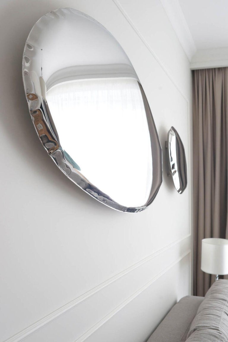 Tafla Mirror C2 by Zieta Prozessdesign in Stainless Steel For Sale 4