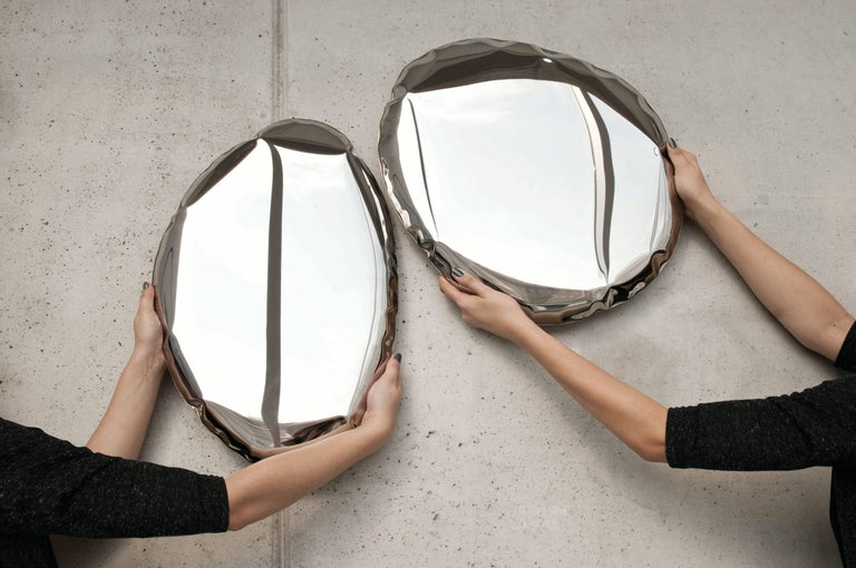 Tafla Mirror C2 by Zieta Prozessdesign in Stainless Steel For Sale 3