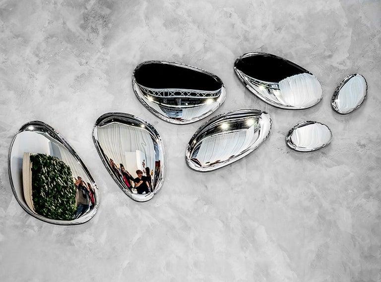 Tafla Mirror C3 by Zieta Prozessdesign in Stainless Steel For Sale 2