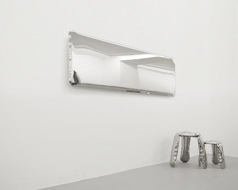 Contemporary Tafla Mirror IQ Monumental Mirror by Zieta Prozessdesign in Stainless Steel For Sale
