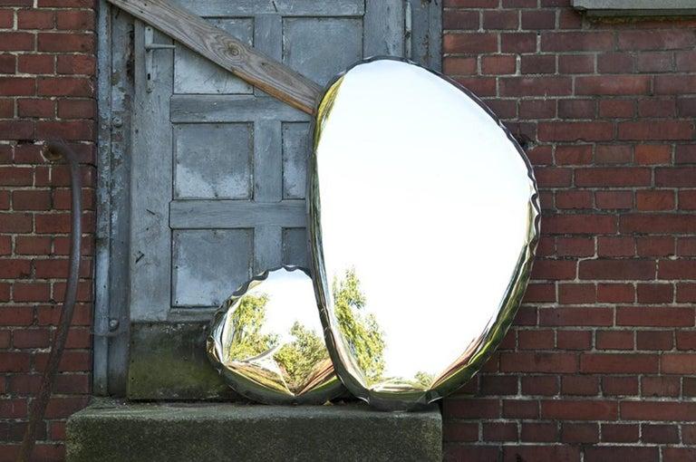 Minimalist Tafla Mirror O3 by Zieta Prozessdesign in Stainless Steel For Sale