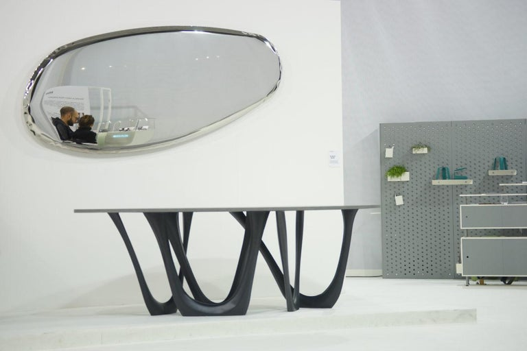 Contemporary Tafla Mirror Q1 by Zieta Prozessdesign in Stainless Steel For Sale