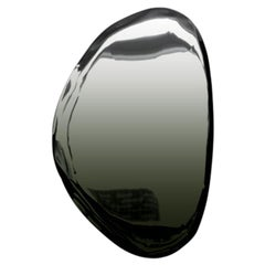 Tafla O3 Polished Dark Matter Color Stainless Steel Wall Mirror by Zieta