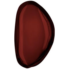 Tafla O3 Polished Rubin Red Color Stainless Steel Wall Mirror by Zieta