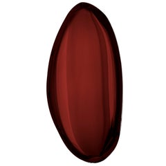 Tafla O4 Polished Rubin Red Color Stainless Steel Wall Mirror by Zieta