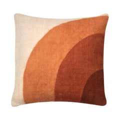 Tafrant Brown Cushion Cover I, Made of Wool and Handpainted with Natural Dyes
