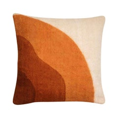 Tafrant Brown Cushion Cover II, Made of Wool and Handpainted with Natural Dyes