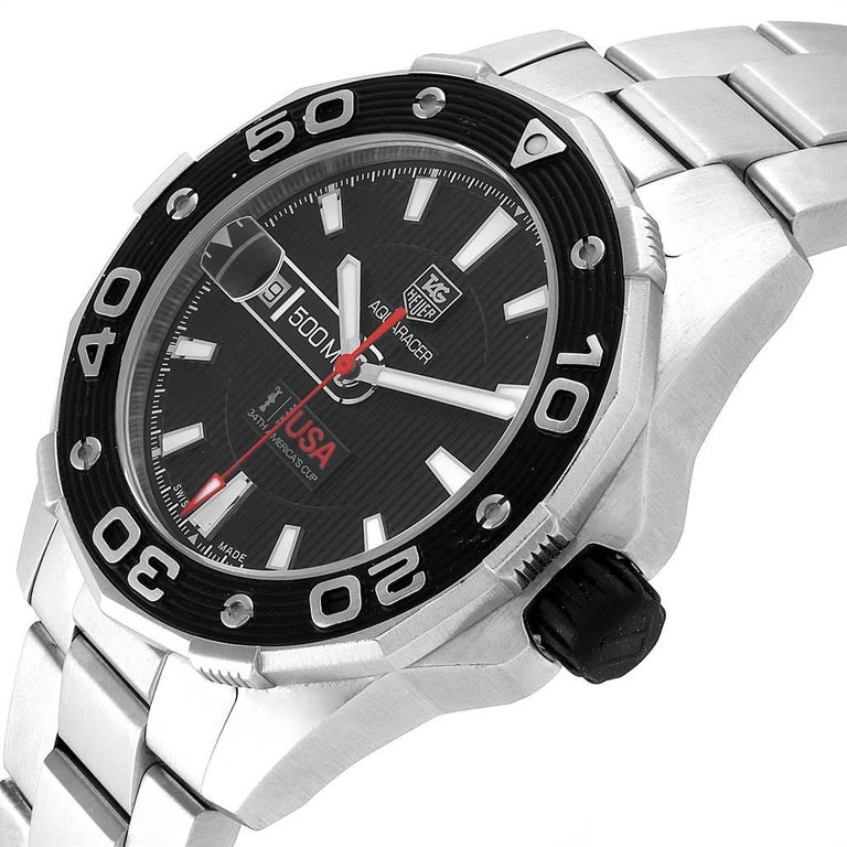 TAG Heuer Aquaracer Steel Rose Gold Men's Watch WAJ2150 2