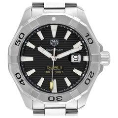 TAG Heuer Aquaracer Black Dial Steel Men's Watch WAY2010 Box Card