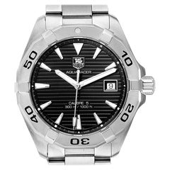 TAG Heuer Aquaracer Black Dial Steel Men's Watch WAY2110 Box Card