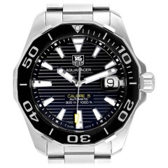 TAG Heuer Aquaracer Black Dial Steel Men's Watch WAY211A Box Card