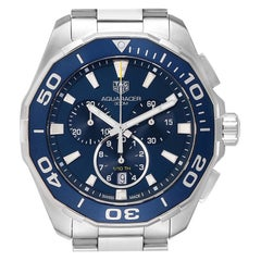 TAG Heuer Aquaracer Blue Dial Chronograph Men's Watch CAY111B Box Card