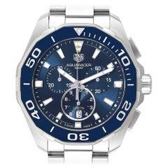 TAG Heuer Aquaracer Blue Dial Chronograph Steel Men's Watch CAY111B